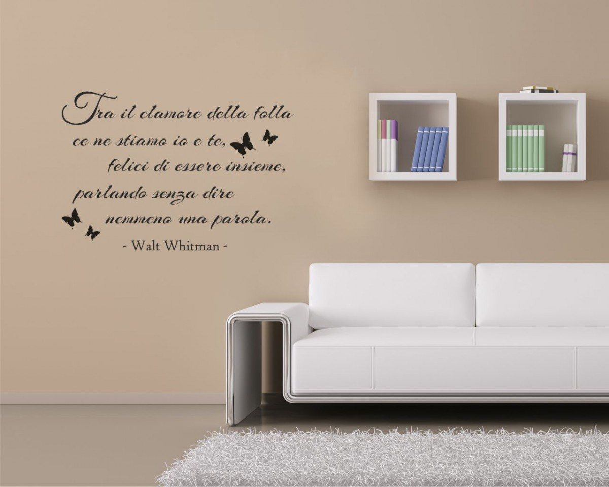 Interni decori adesivi murali wall stickers e quadri for Muri colorati camera da letto