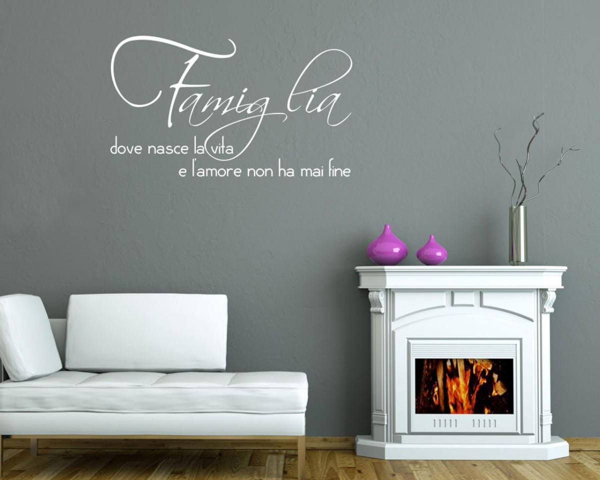 Decorazioni per pareti interne tecnica di pittura per for Adesivi per pareti interne