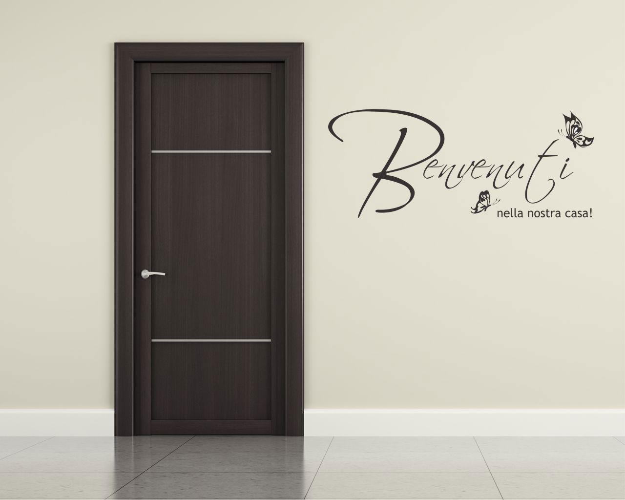 Benvenuti nella nostra casa frasi aforismi citazioni for Adesivi x pareti
