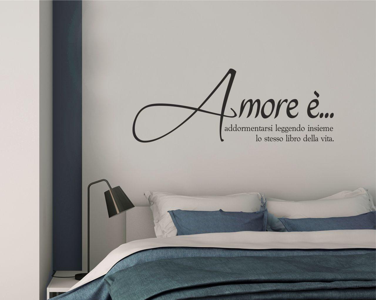 Amore e frasi aforismi citazioni adesivo murale - Adesivi parete camera da letto ...
