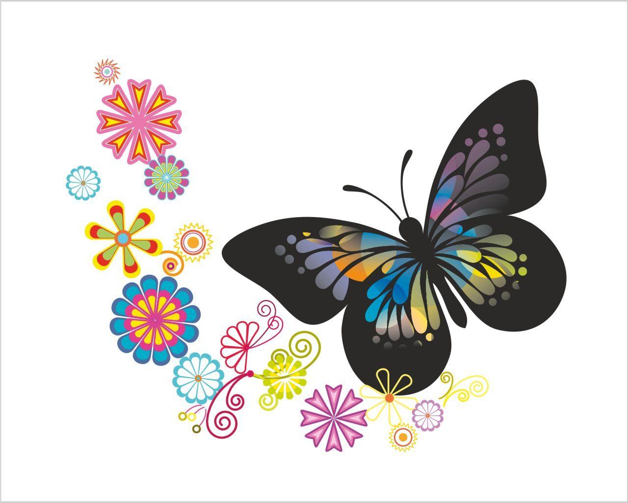 Disegni con farfalla animali adesivo murale for Farfalle decorative per muri