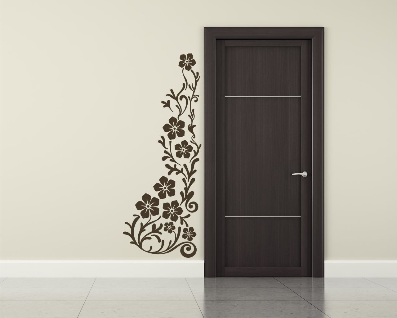 adesivo murale-elegante decoro fiorito