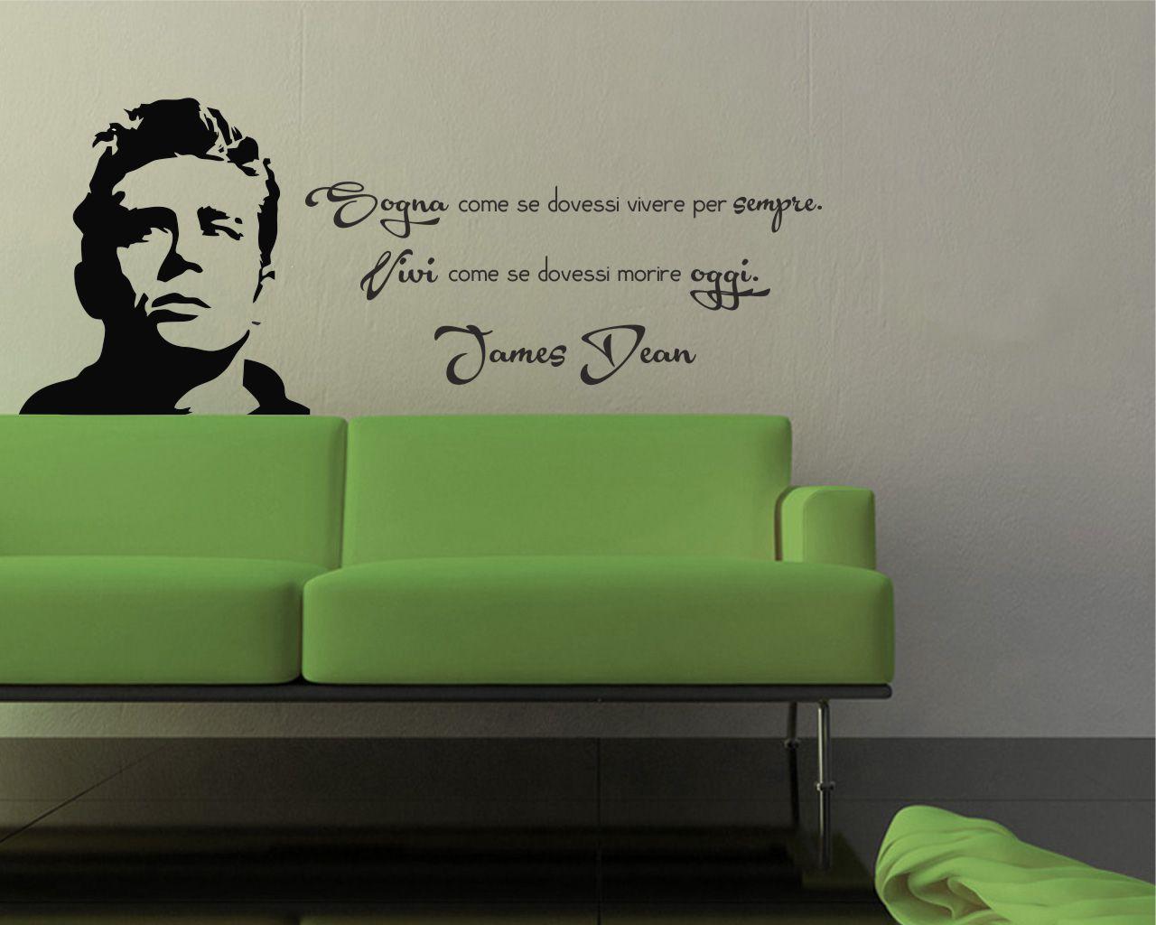adesivo murale-James Dean-.Sogna e vivi