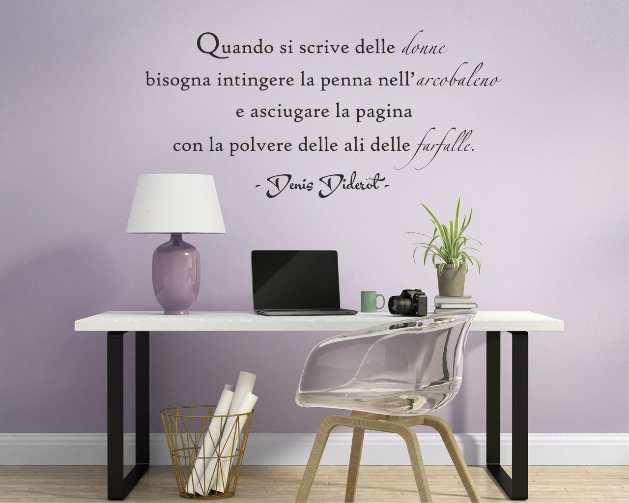 adesivo murale-D. Diderot-Quando si scrive delle donne