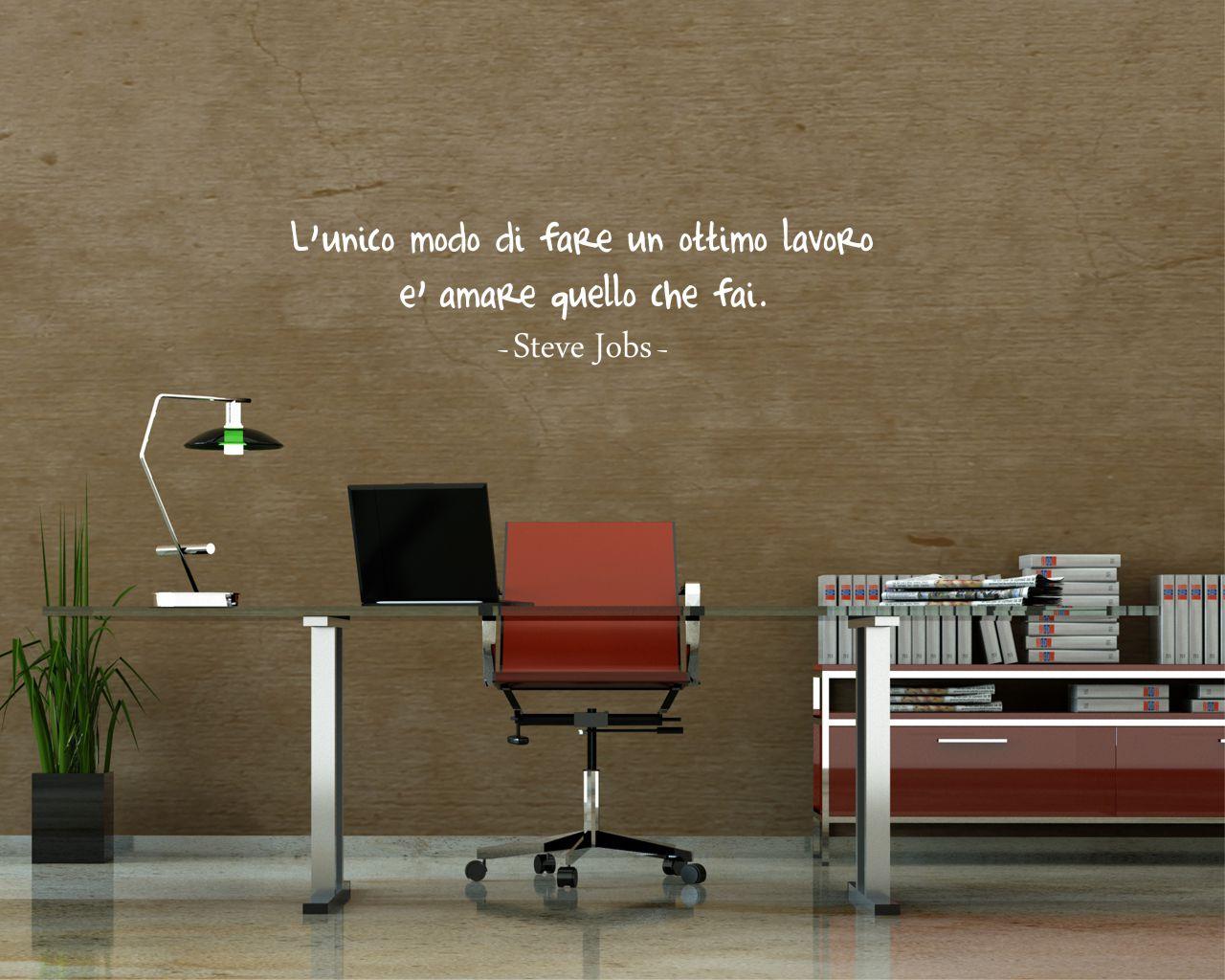 Adesivo murale-Steve Jobs-ama quello che fai