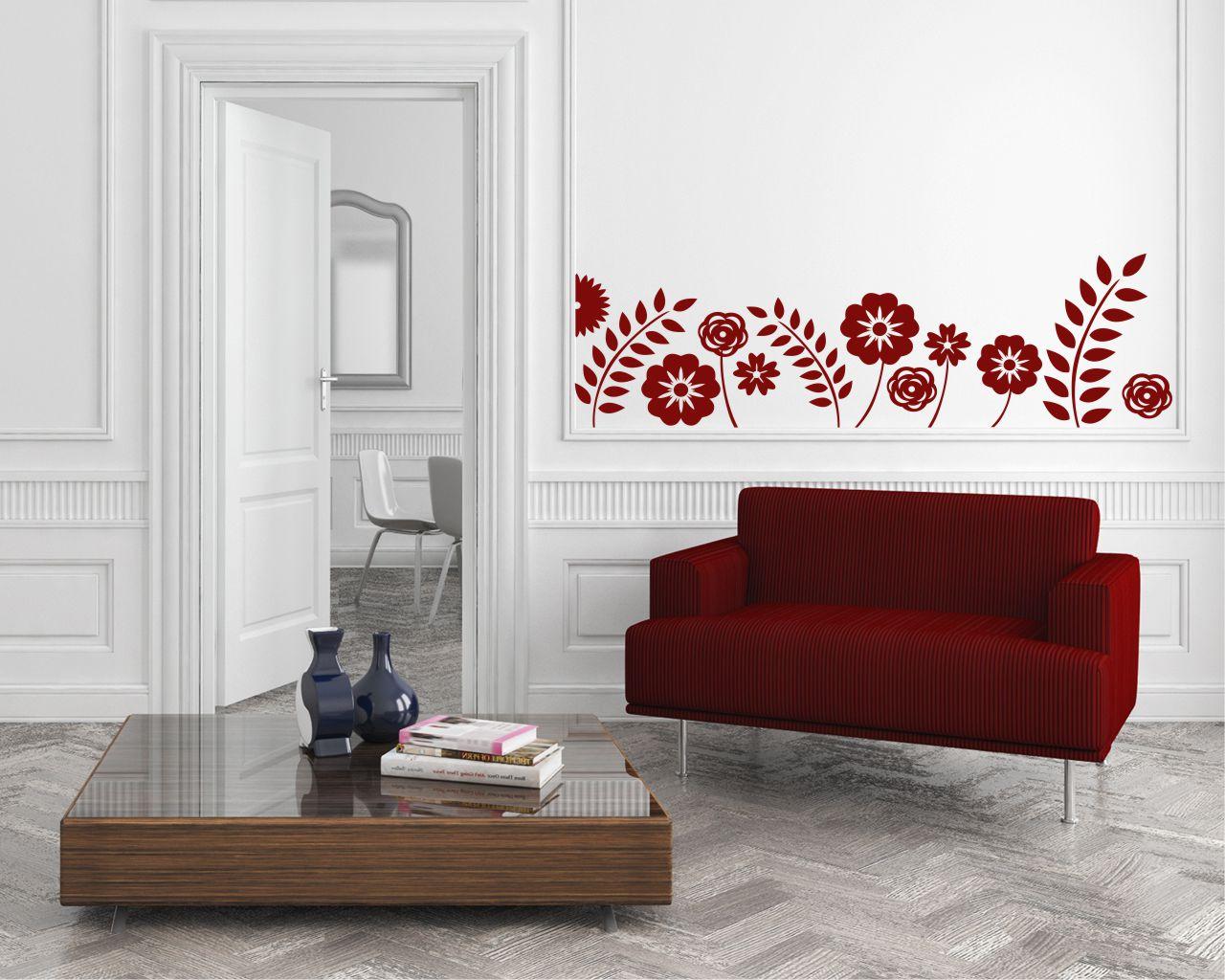 Adesivo murale-papaveri tra spighe