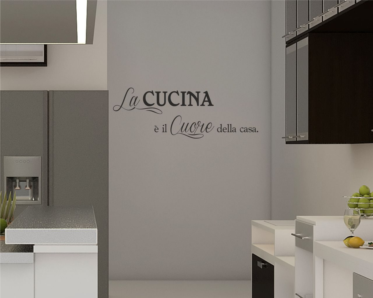 Il cuore della casa food adesivo murale for Scritte adesive cucina