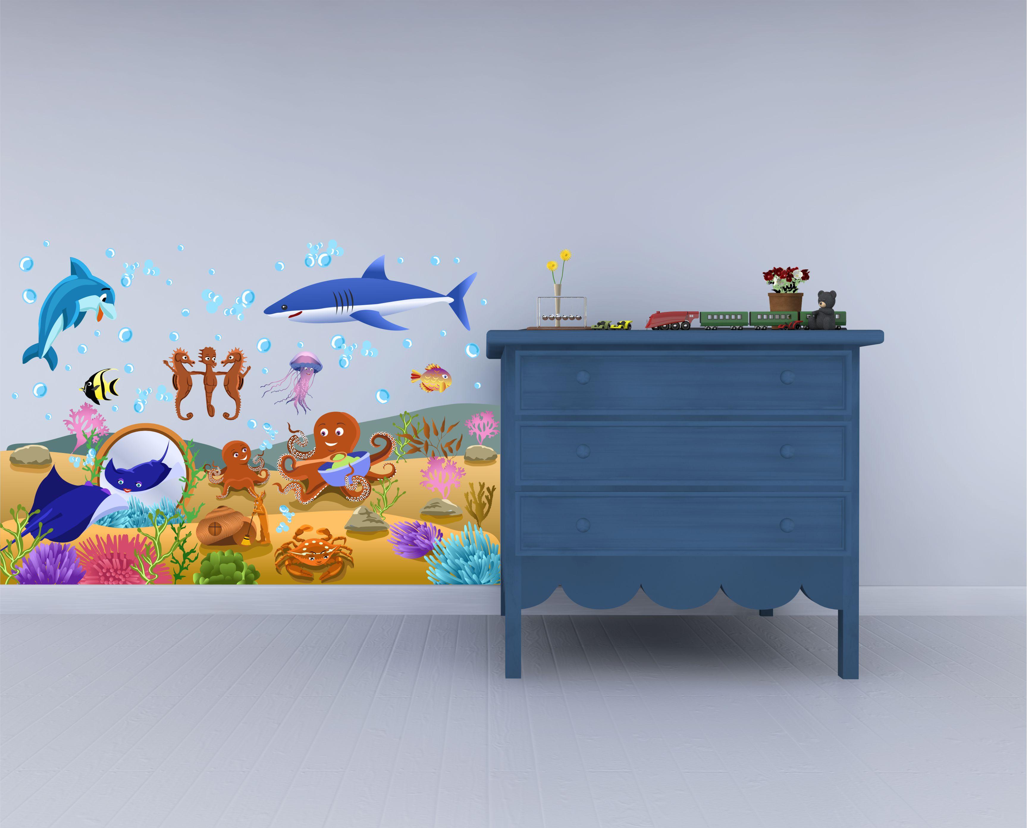 adesivo murale-mondo sommerso