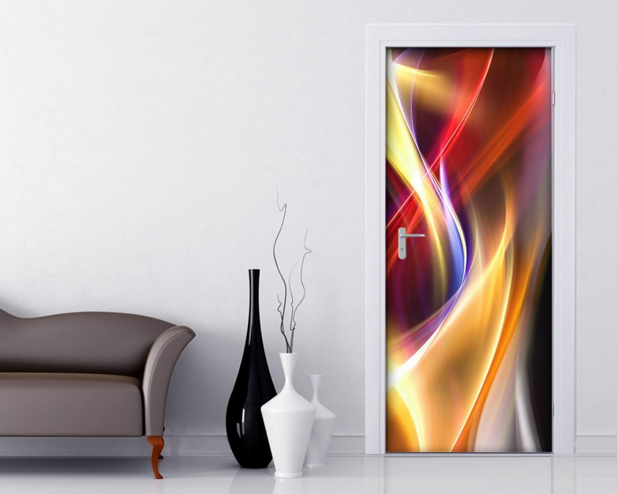 Adesivi per porte interni decori adesivi murali for Carta adesiva 3d