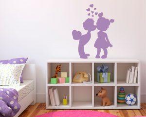 Adesivo murale-amore di bimbi