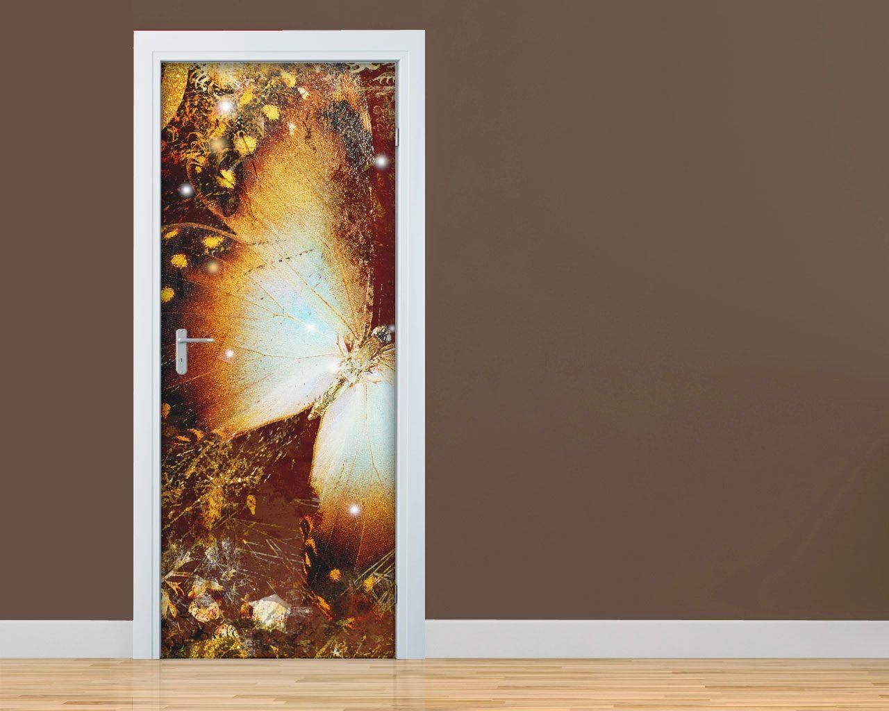 Volo di farfalla n 2 arte adesivo per porte - Stickers porte interne ...