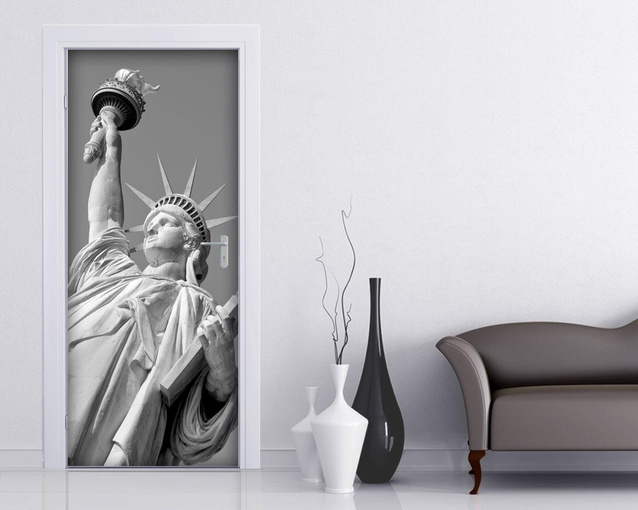 Adesivo per porte-sotto la statua della libertà