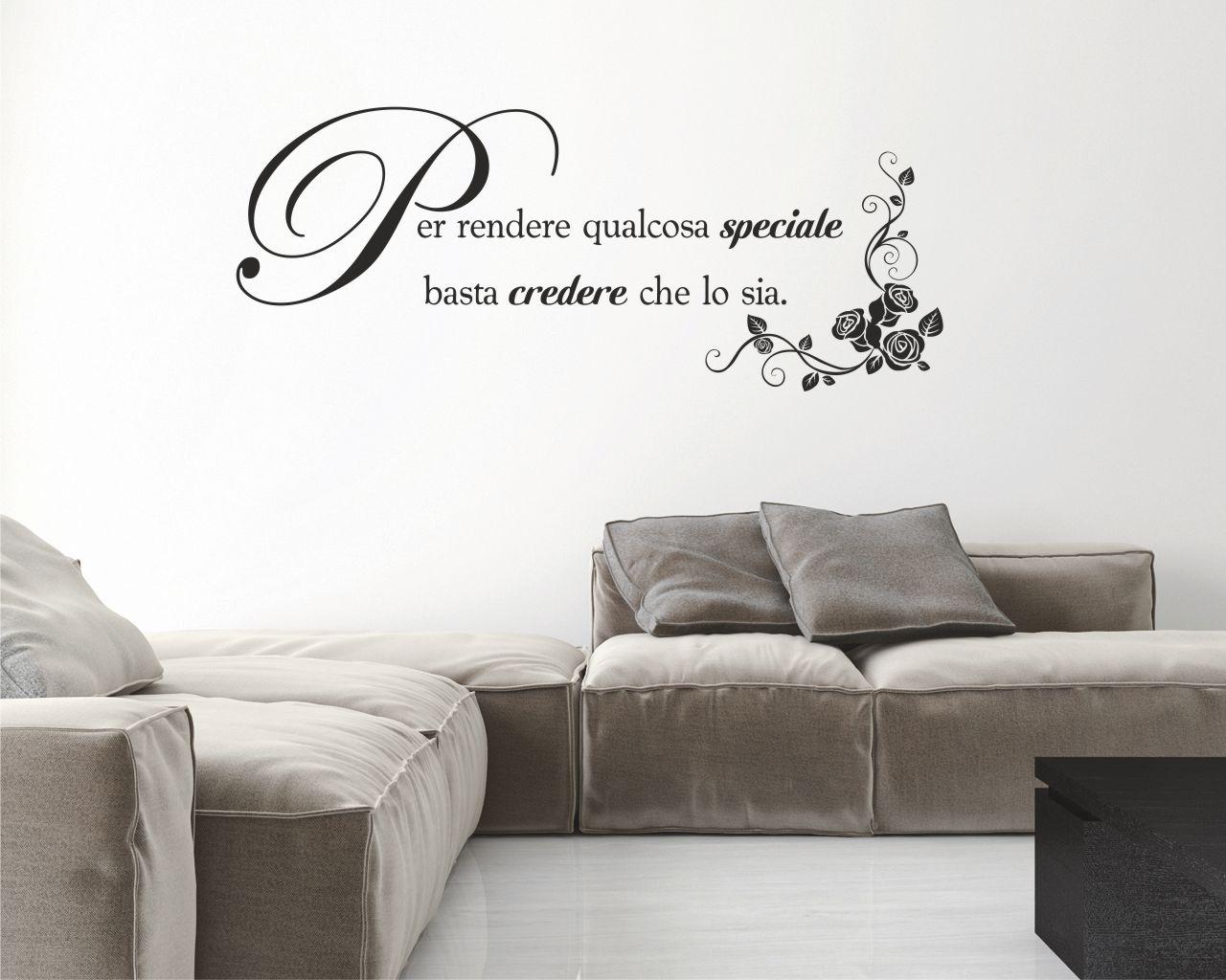 Qualcosa di speciale frasi aforismi citazioni adesivo murale interni decori adesivi - Camera da letto decorazioni murali ...