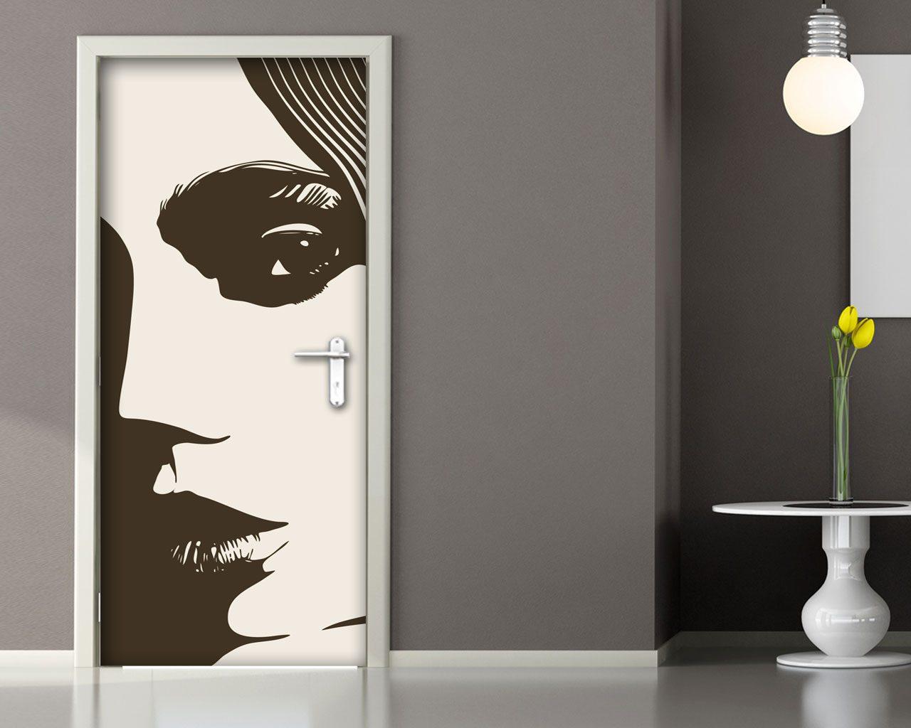 Sensuale bellezza arte adesivo per porte - Porte decorate adesivi ...
