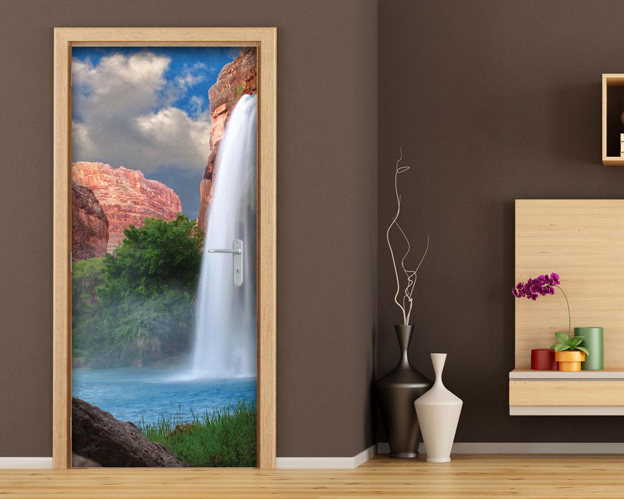 Spettacolo naturale natura adesivo per porte interni for Specchi adesivi per porte