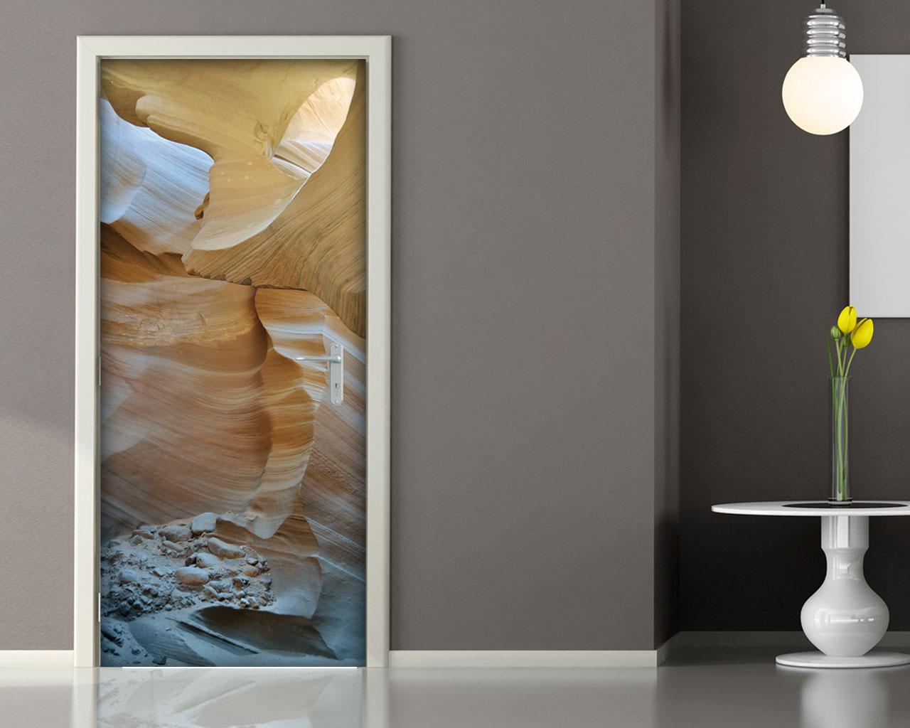 Sole tra le rocce natura adesivo per porte interni for Specchi adesivi per porte