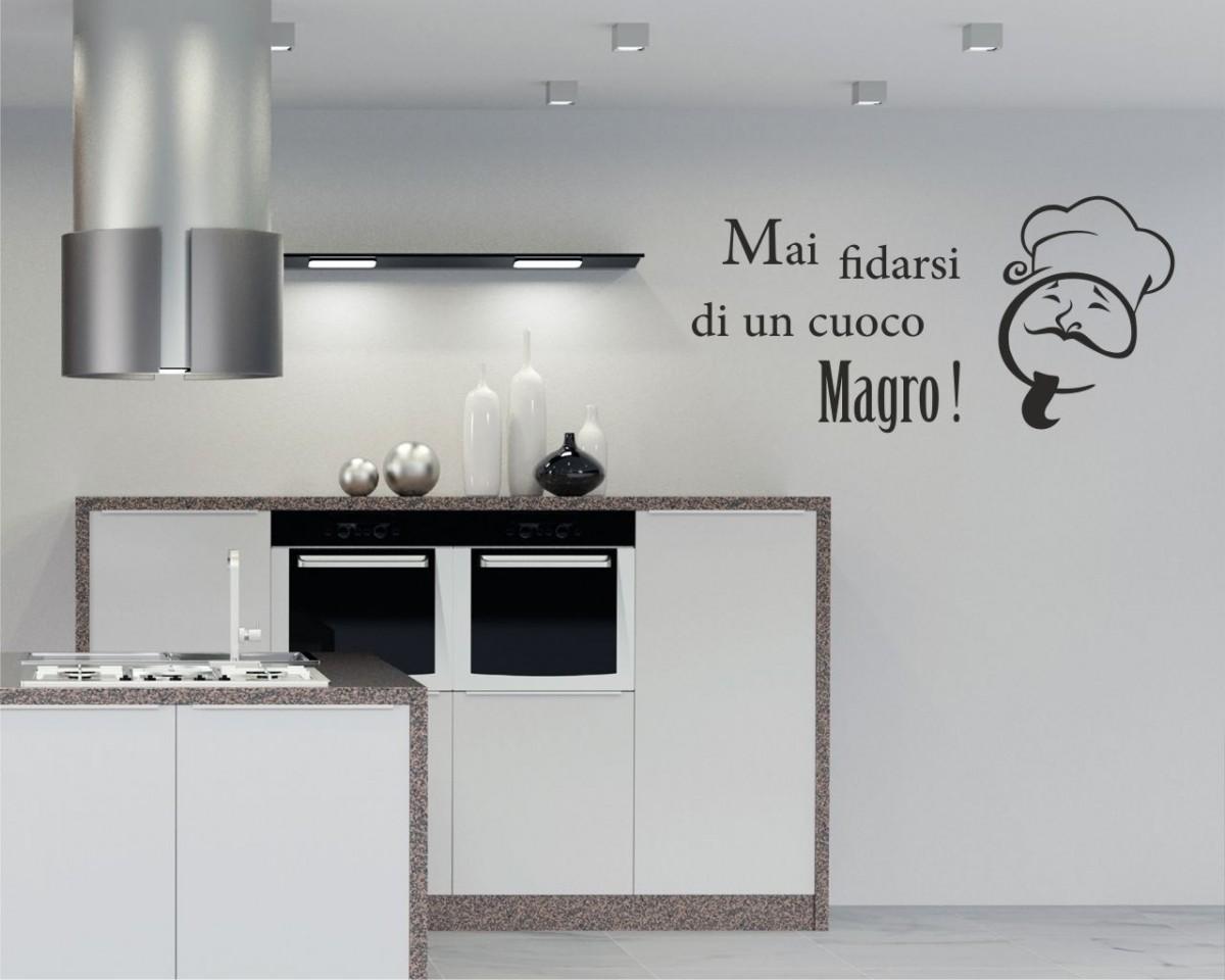 Adesivo murale-mai fidarsi di un cuoco