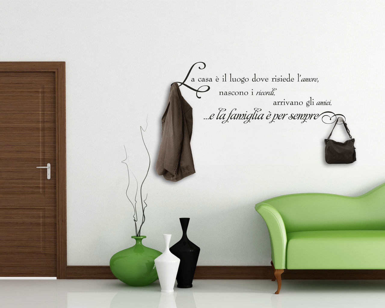 Appendiabiti design-la casa è il luogo...