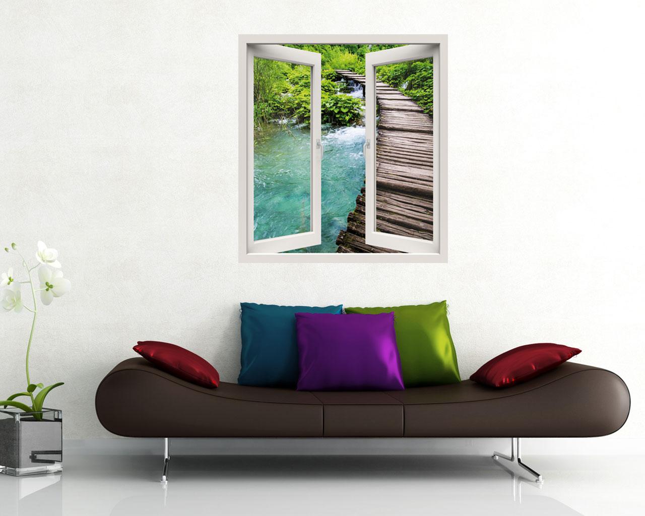 Scorcio sul torrente natura finestra illusione - La valigia sul letto torrent ...