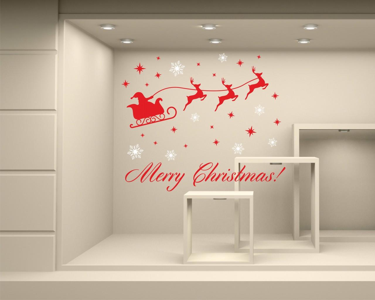 Vetrofania-Babbo Natale con slitta