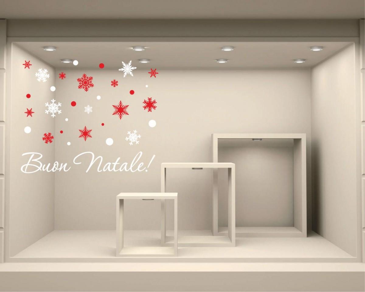 Adesivo per vetrine-Natale con i fiocchi