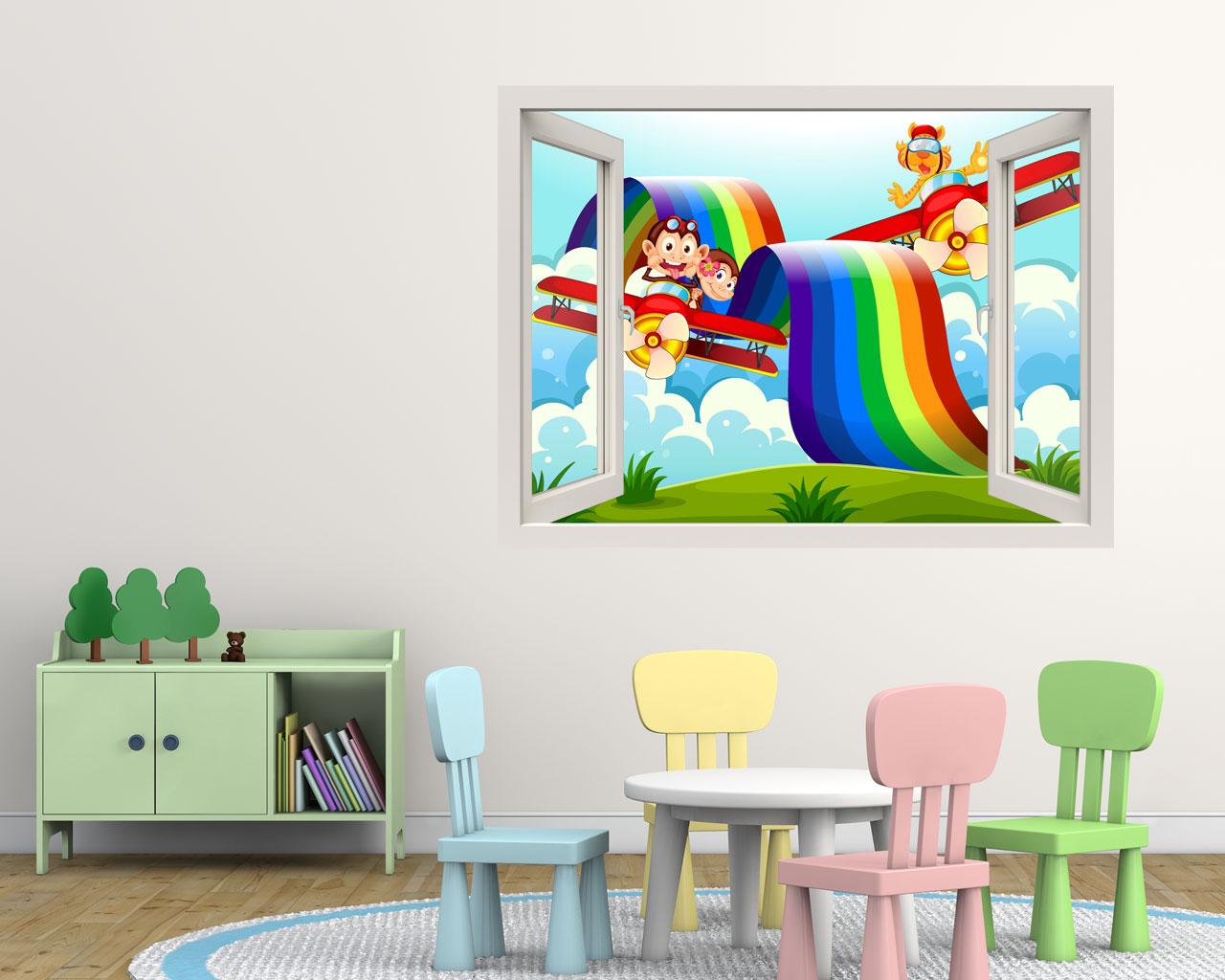 volando sull arcobaleno infanzia finestra illusione