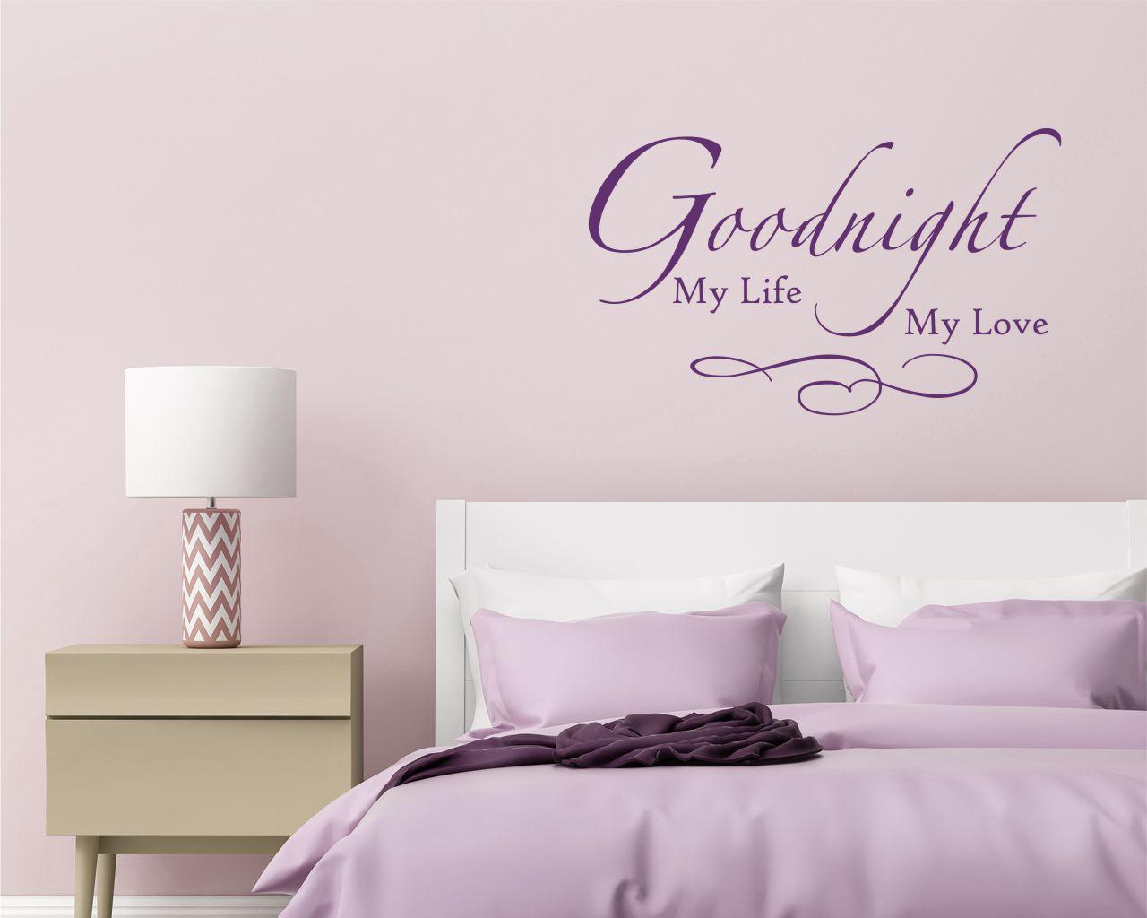 Adesivo murale-goodnight my life