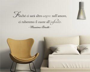 Adesivo murale-Massimo Bisotti-ci ruberemo il cuore