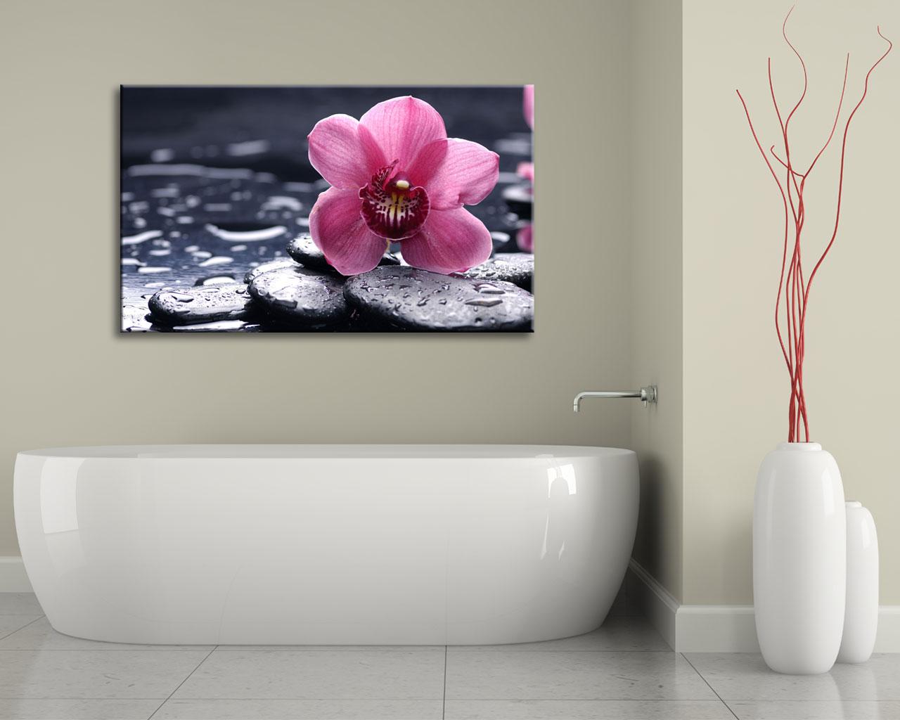 Stampa su tela-delicata orchidea rosa
