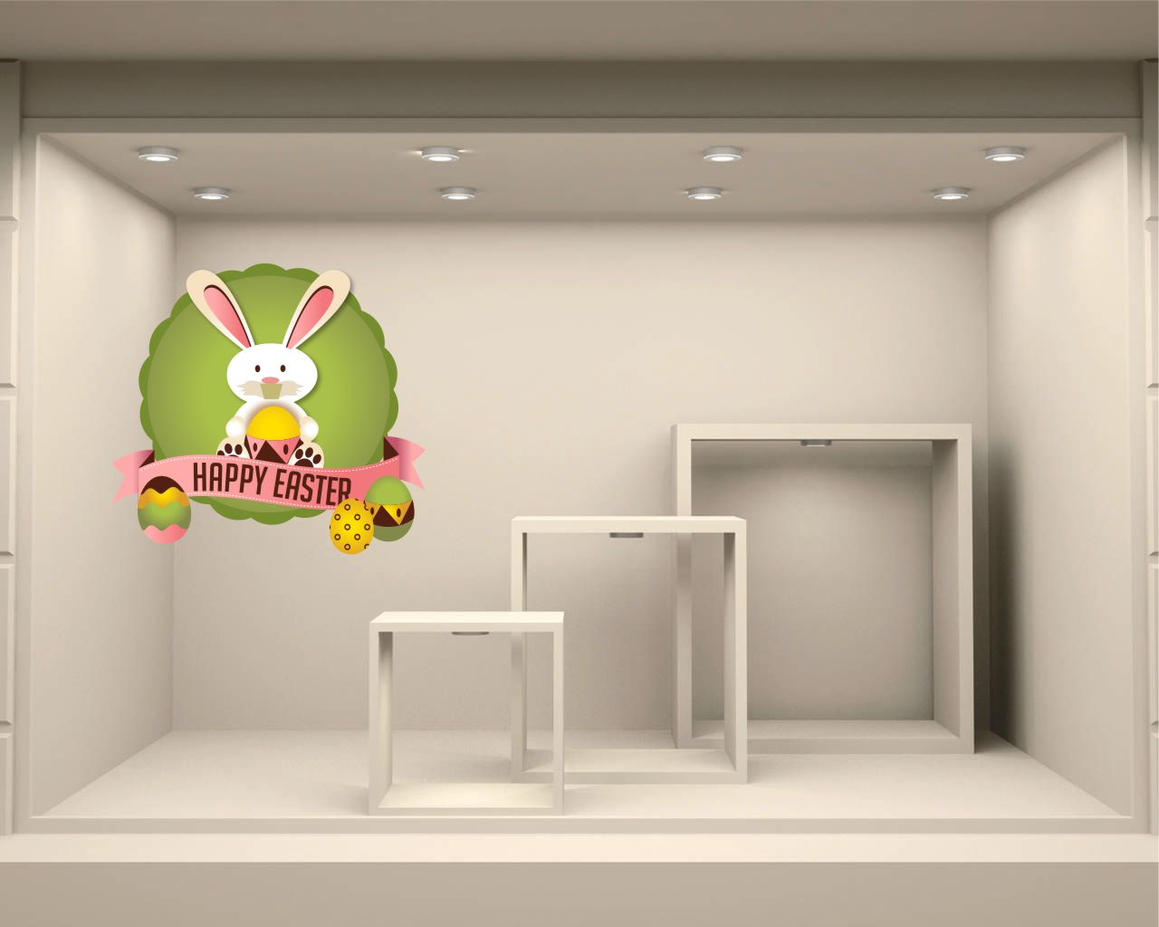 Vetrofania-coniglietto di Pasqua