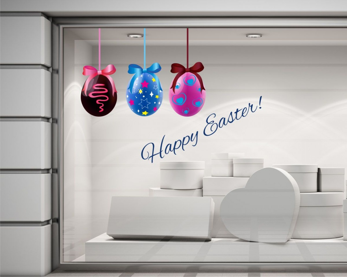 Vetrofania-Happy Easter!