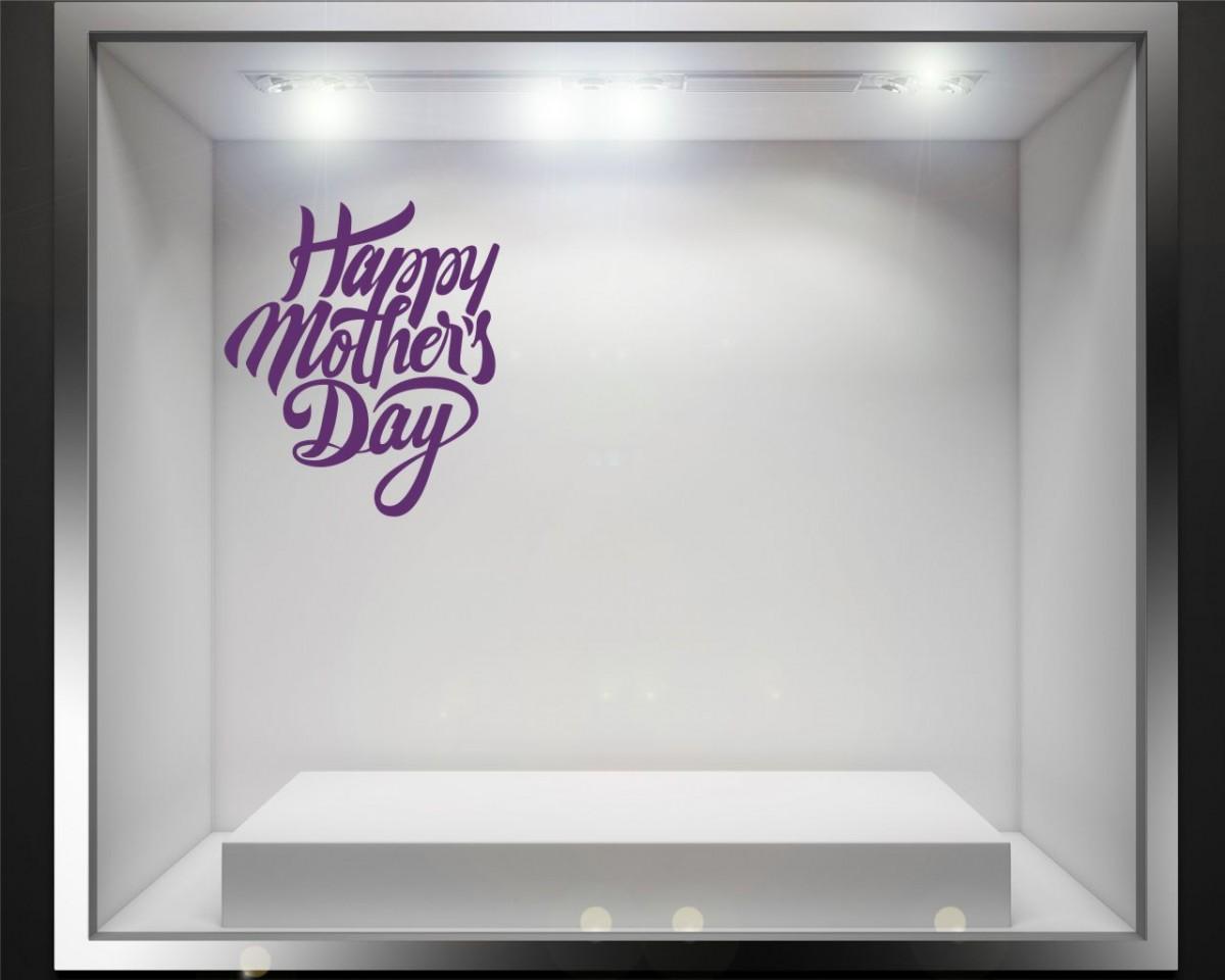 Vetrofania-felice festa della mamma