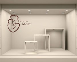 Adesivo per vetrine-I love you Mom!