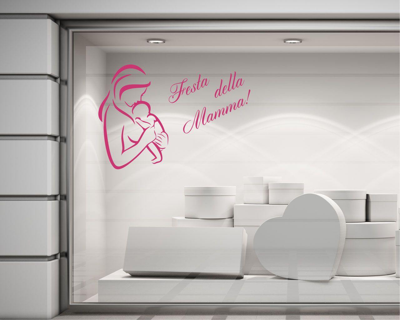 adesivo per vetrine-tanti auguri mamma!