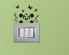 Mini sticker murale-un simpatico panda