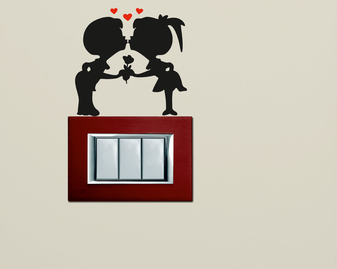 Mini sticker murale-una coppia di innamorati