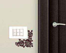Mini sticker murale-piccolo decoro floreale