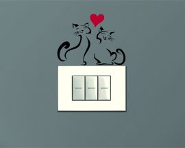 Mini sticker murale-micetti in amore