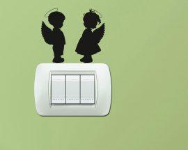 Mini sticker murale-teneri angioletti