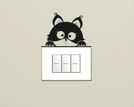 Mini sticker murale-gattino curioso