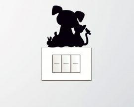 Mini sticker murale-simpatici amici animali