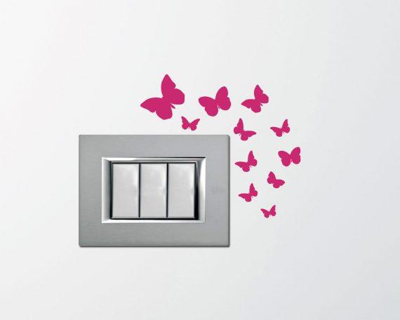 Mini sticker murale-delicate farfalle