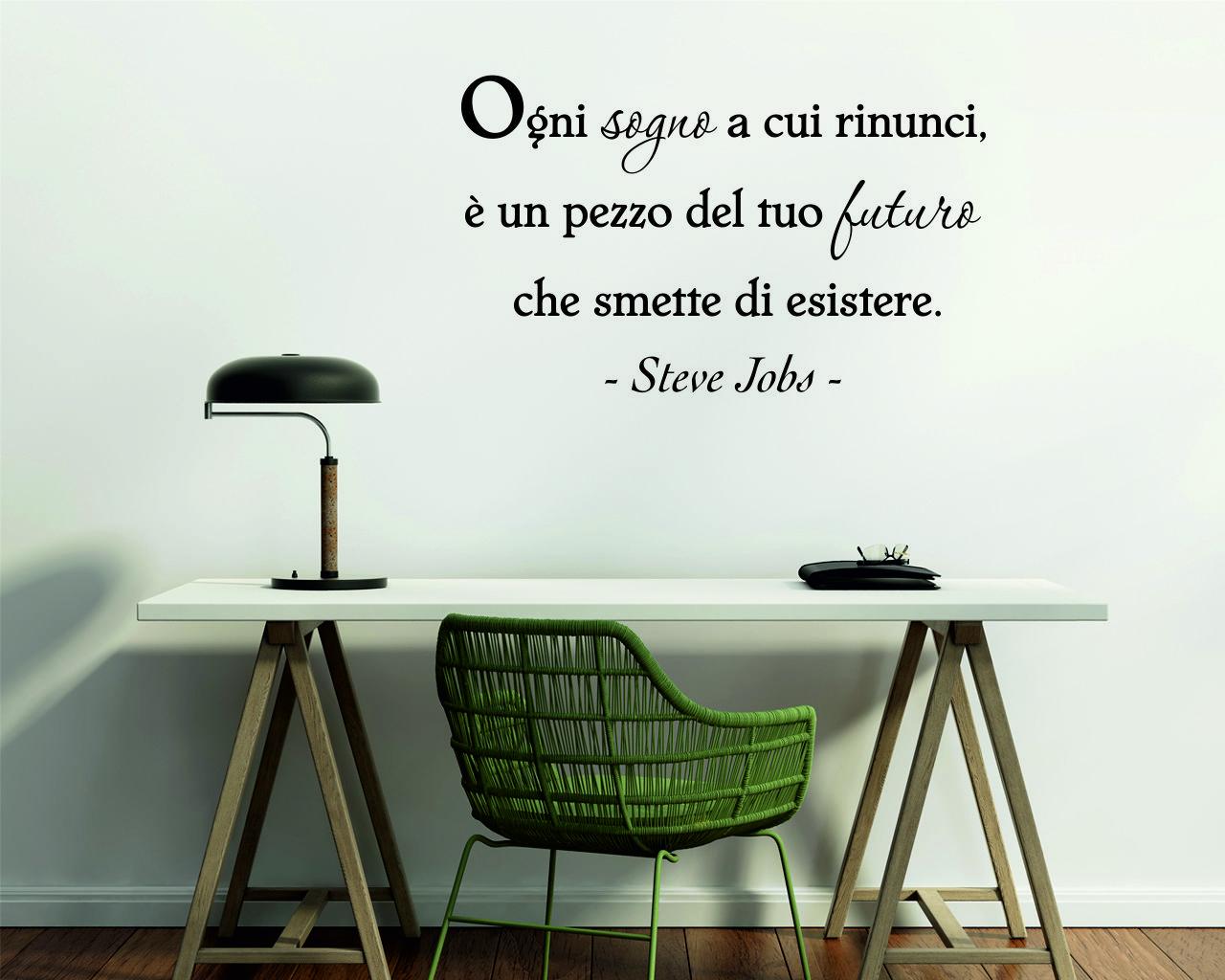 Adesivo murale-Steve Jobs-ogni sognoi