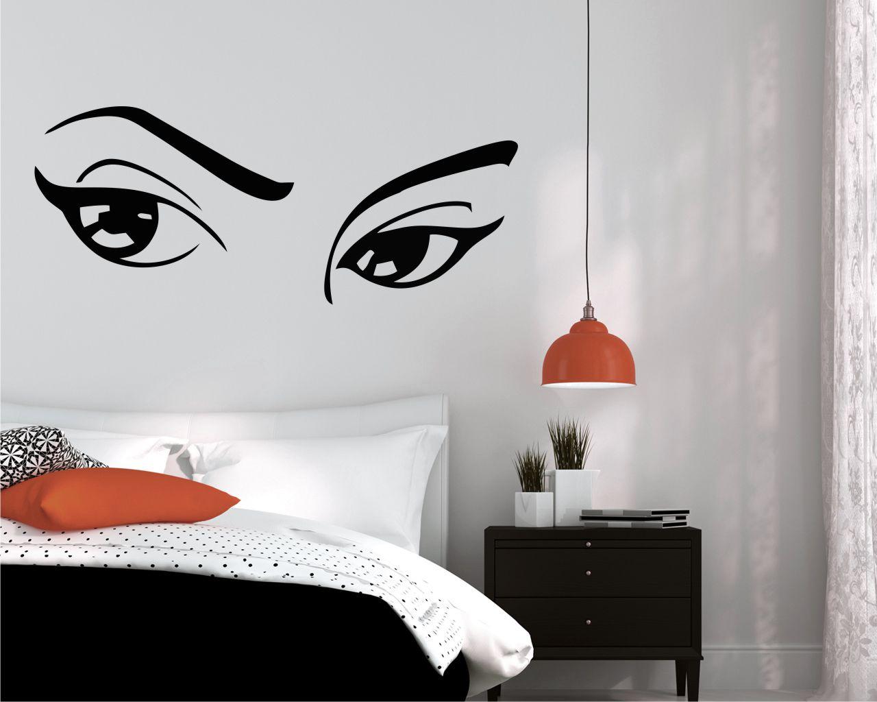 Adesivo murale-dolci occhi di donna
