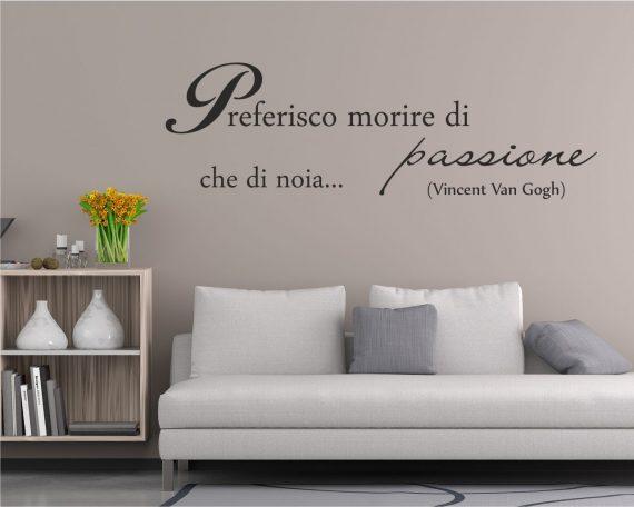 Adesivo murale-morire di passione