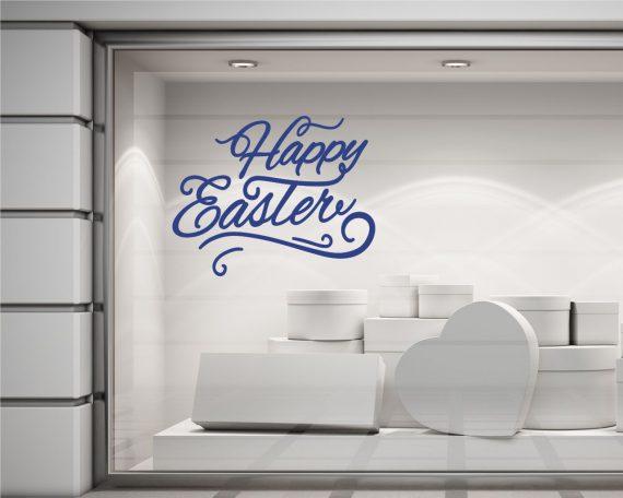 Adesivo per vetrina-Buona Pasqua con decoro