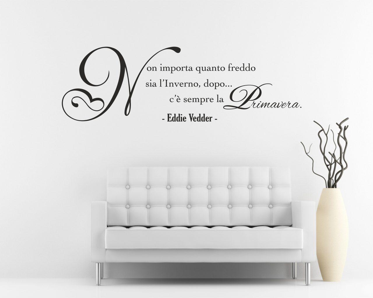 Frasi aforismi citazioni interni decori adesivi murali wall stickers e quadri moderni - Adesivi murali per camera da letto ...