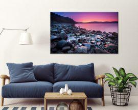 Stampa su tela-tramonto sulle rocce
