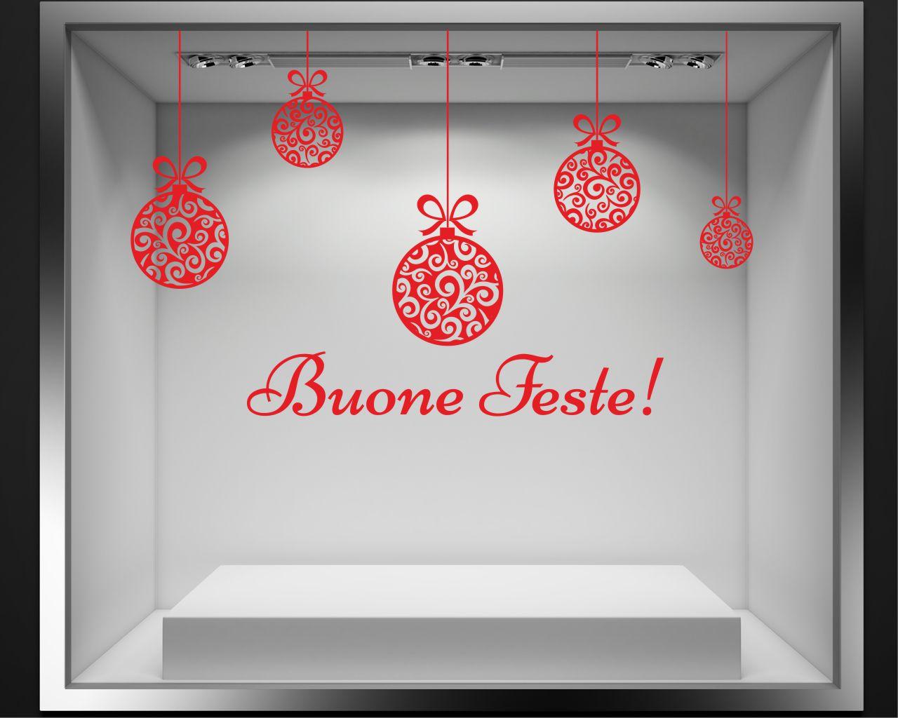 Festoni di natale vetrofania interni decori - Adesivi natalizi per finestre ...