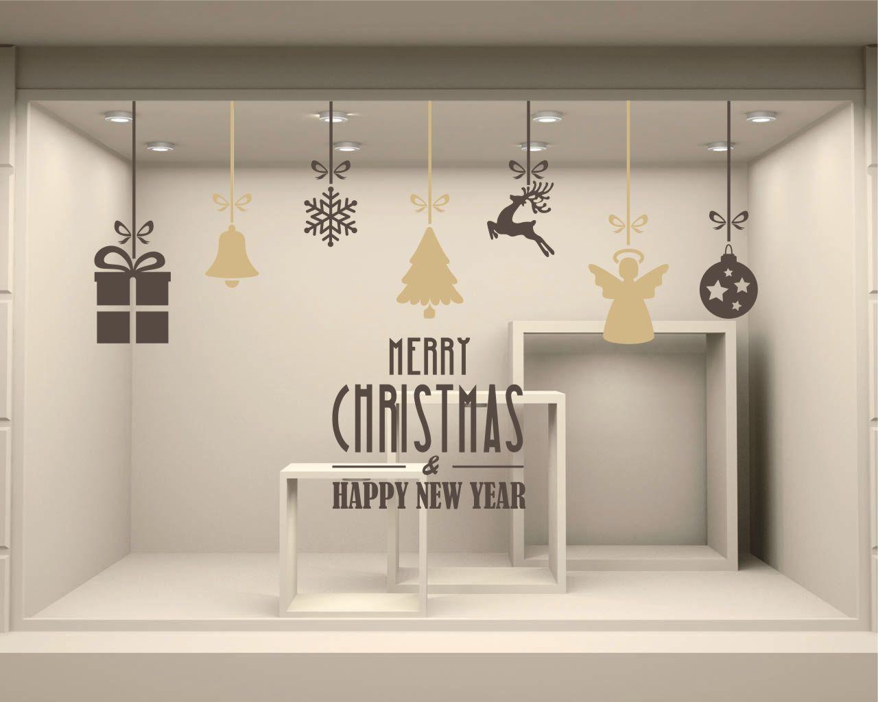 Vetrofania-Merry Christmas & happy new yea